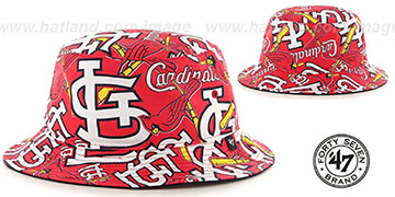 Cardinals 'BRAVADO BUCKET' Hat by Twins 47 Brand
