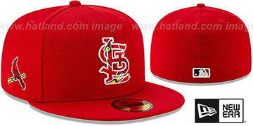 Cardinals DASHMARK BP Red Fitted Hat by New Era
