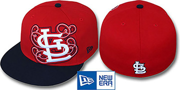 Cardinals 'DUBCHA' Red-Navy Fitted Hat by New Era