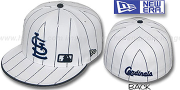 Cardinals 'FABULOUS' White-Navy Fitted Hat by New Era