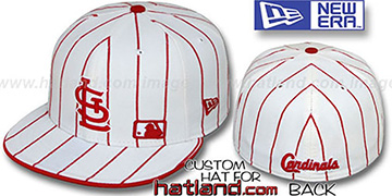 Cardinals FABULOUS White-Red Fitted Hat by New Era