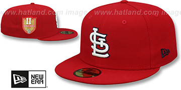 Cardinals 'GOLDEN-HIT' Red Fitted Hat by New Era