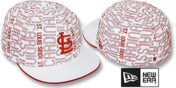 Cardinals 'GOOD TIMES ALL-OVER' White-Red Fitted Hat by New Era