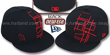 Cardinals 'GPS' Black-Red Fitted Hat by New Era