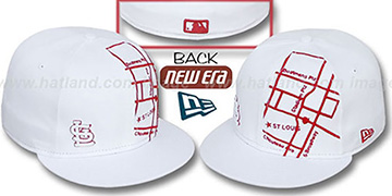 Cardinals 'GPS' White-Red Fitted Hat by New Era