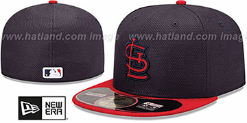 Cardinals MLB DIAMOND ERA 59FIFTY Navy-Red BP Hat by New Era