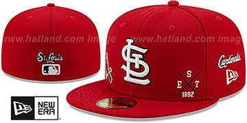Cardinals MULTI-AROUND Red Fitted Hat by New Era