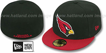 Cardinals 'NFL 2T-TEAM-BASIC' Black-Burgundy Fitted Hat by New Era