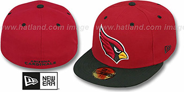 Cardinals NFL 2T-TEAM-BASIC Burgundy-Black Fitted Hat by New Era