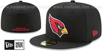 Cardinals NFL TEAM-BASIC Black Fitted Hat by New Era
