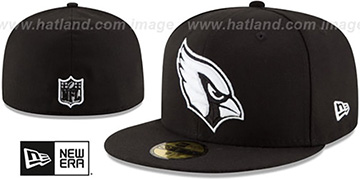 Cardinals 'NFL TEAM-BASIC' Black-White Fitted Hat by New Era