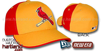 Cardinals PINWHEEL Gold-Red Fitted Hat by New Era