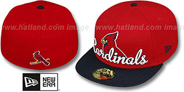 Cardinals 'SCRIPT-PUNCH' Red-Navy Fitted Hat by New Era