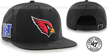 Cardinals 'SUPER-SHOT STRAPBACK' Black Hat by Twins 47 Brand