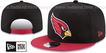 Cardinals TEAM-BASIC SNAPBACK Black-Burgundy Hat by New Era