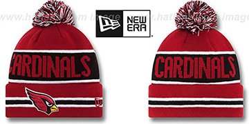 Cardinals 'THE-COACH' Burgundy Knit Beanie Hat by New Era