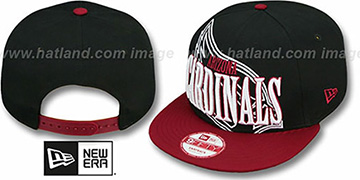 Cardinals 'THROUGH SNAPBACK' Black-Burgundy Hat by New Era