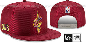 Cavaliers '2017 NBA ONCOURT DRAFT SNAPBACK' Burgundy Hat by New Era