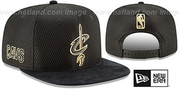 Cavaliers '2017 NBA ONCOURT SNAPBACK' Black-Gold Hat by New Era