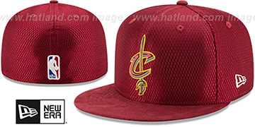 Cavaliers 2017 ONCOURT DRAFT Burgundy Fitted Hat by New Era