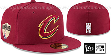 Cavaliers '2018 FINALS' Burgundy Fitted Hat by New Era
