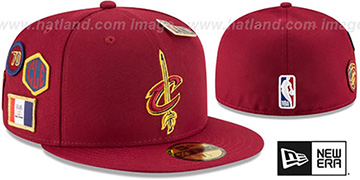 Cavaliers 2018 NBA DRAFT Burgundy Fitted Hat by New Era