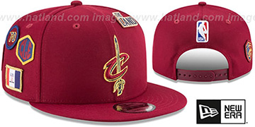 Cavaliers 2018 NBA DRAFT SNAPBACK Burgundy Hat by New Era