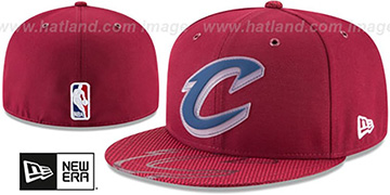 Cavaliers 2018 NBA ONCOURT ALL-STAR Burgundy Fitted Hat by New Era