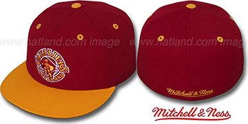 Cavaliers '2T CLASSIC THROWBACK' Burgundy-Gold Fitted Hat by Mitchell and Ness