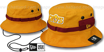 Cavaliers ADVENTURE Gold Bucket Hat by New Era