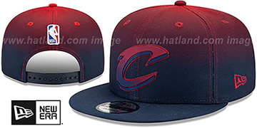 Cavaliers BACK HALF FADE SNAPBACK Hat by New Era