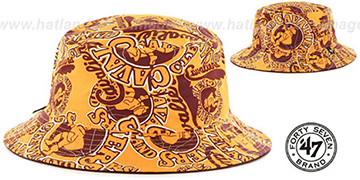 Cavaliers BRAVADO BUCKET Gold Hat by Twins 47 Brand