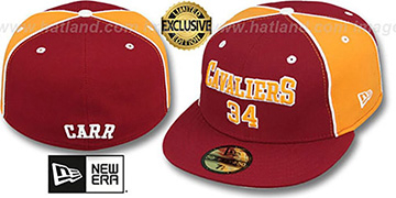 Cavaliers CARR TEAM-UP Burgundy-Gold Fitted Hat by New Era
