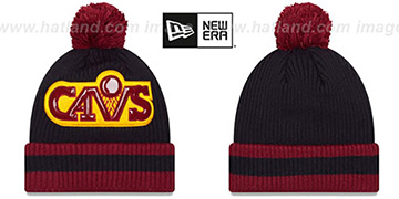 Cavaliers 'CHILLER FILLER BEANIE' Navy-Burgundy by New Era