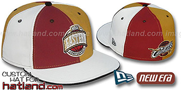 Cavaliers CONFERENCE PINWHEEL Burgundy-Gold-White Fitted Hat