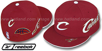 Cavaliers ELEMENTS 2 Fitted Hat by Reebok - burgundy