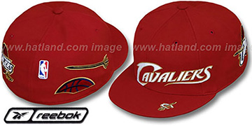 Cavaliers ELEMENTS Fitted Hat by Reebok - burgundy