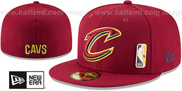 Cavaliers FLAWLESS PINNED-UP Burgundy Fitted Hat by New Era