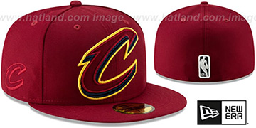 Cavaliers FRAME-FRONT Burgundy Fitted Hat by New Era