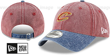 Cavaliers GW RUGGED CANVAS STRAPBACK Burgundy-Navy Hat by New Era