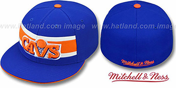 Cavaliers HARDWOOD TIMEOUT Royal Fitted Hat by Mitchell & Ness