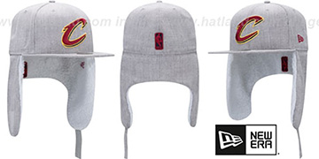 Cavaliers 'HEATHER-DOGEAR' Light Grey Fitted Hat by New Era