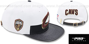 Cavaliers HORIZON STRAPBACK White-Black Hat by Pro Standard