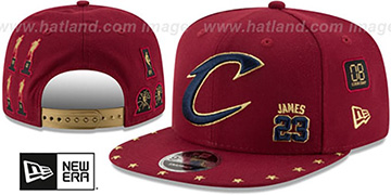 Cavaliers JAMES 'SUPER-STAR SNAPBACK' Burgundy Hat by New Era