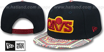 Cavaliers KALEIDOVIZE SNAPBACK Navy Hat by New Era