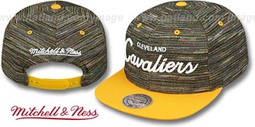Cavaliers KNIT-WEAVE SNAPBACK Multi-Gold Hat by Mitchell and Ness