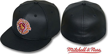 Cavaliers 'LEATHER HARDWOOD' Fitted Hat by Mitchell and Ness