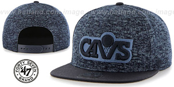 Cavaliers LEDGEBROOK SNAPBACK Navy Hat by Twins 47 Brand