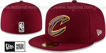 Cavaliers 'METAL-N-THREAD' Burgundy Fitted Hat by New Era