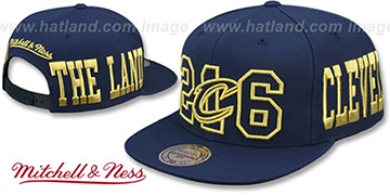 Cavaliers METALLIC AREA-CODE SNAPBACK Navy Hat by Mitchell and Ness